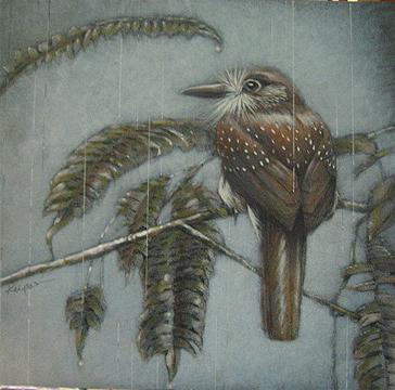 White whiskered puffbird