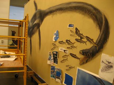 Elasmosaur painting