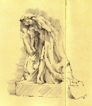 Rodin's Psyche; drawn at the Boston Museum of Art