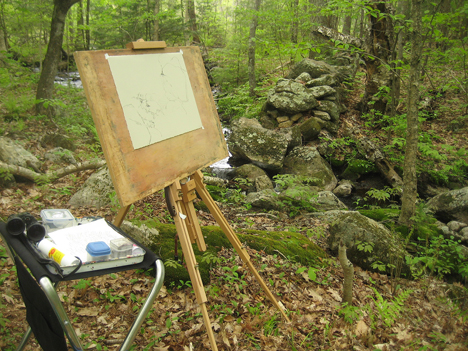 my plein air drawing setup