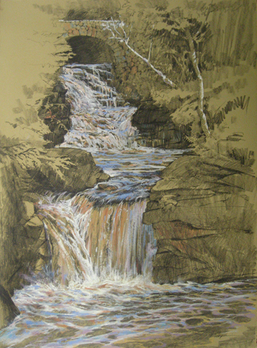 The finished piece, Doane's Falls