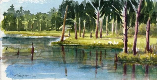 paint a pond.