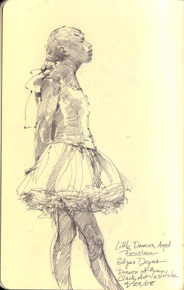 Degas' Little Dancer.