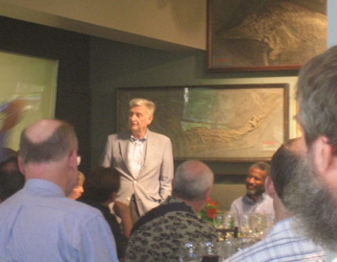 Ed Wilson was the delightful dinner speaker at the 100th anniversary of the Harvard ant collection. HMNH.