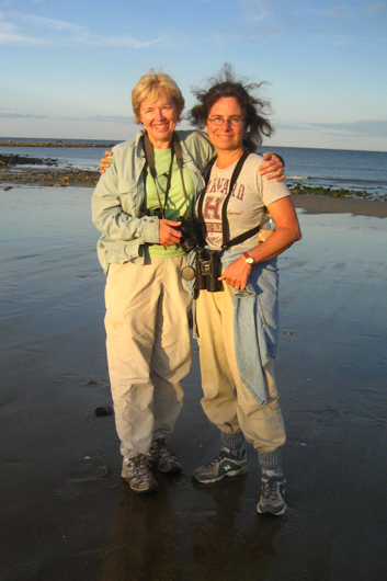 Cindy House with yours truly at Plum Island. Don't we look like a pair of Venuses rising from the sea?
