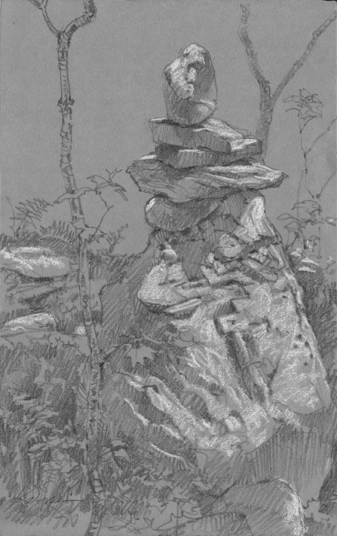 A cairn in Harvard Forest