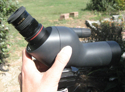 Nikon fieldscope. So cute, so portable!