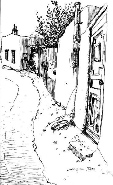 Le Doux Street, Taos, New Mexico