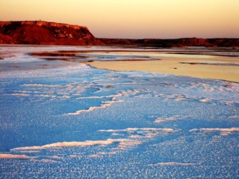 Salt flats on Buffalo Creek, Selman Ranch, Oklahoma