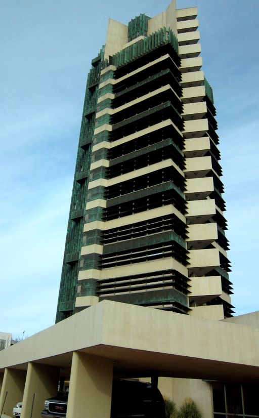 Price Tower, Bartlesville, OK. Frank Lloyd Wright's only high-rise.