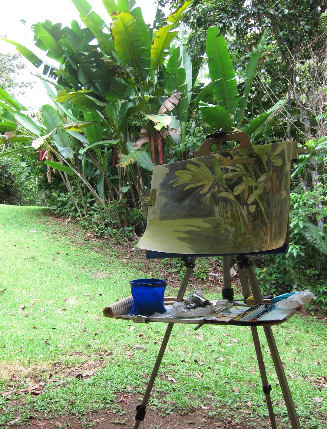 Leaves Paintings And Drawings Painting Big Leaves in