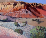 Ghost Ranch box canyon, pastel