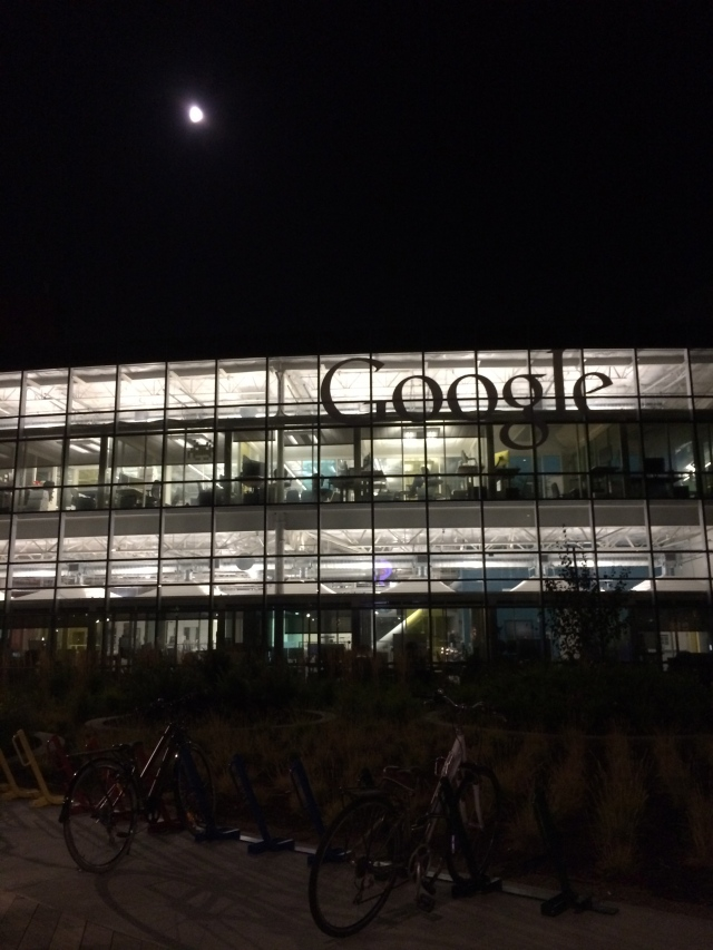Google by night: yes, it's a real, physical place.