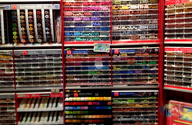 Candy store, art store, what's the diff? An art supply shop in Copenhagen.
