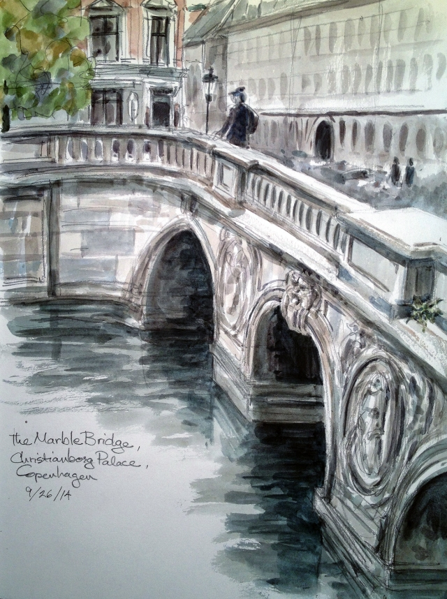 The Marble Bridge, Christiansborg Palace, Copenhagen, where the King's coaches have rolled into town since 1744.