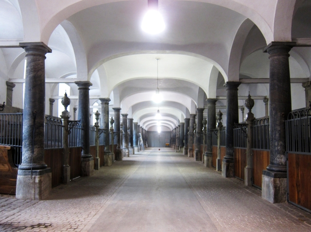 The actual Danish Royal Stables, Christiansborg Palace, Copenhagen. At their height, they housed 270 horses. Today they hold about 20. But walking in here, the first thing that hits you is a strong feeling of well-being and the sweet scent of hay and horses. Nothing else like it.