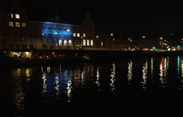Lights on the harbor, Copenhagen, at the tail-end of Culture Night.