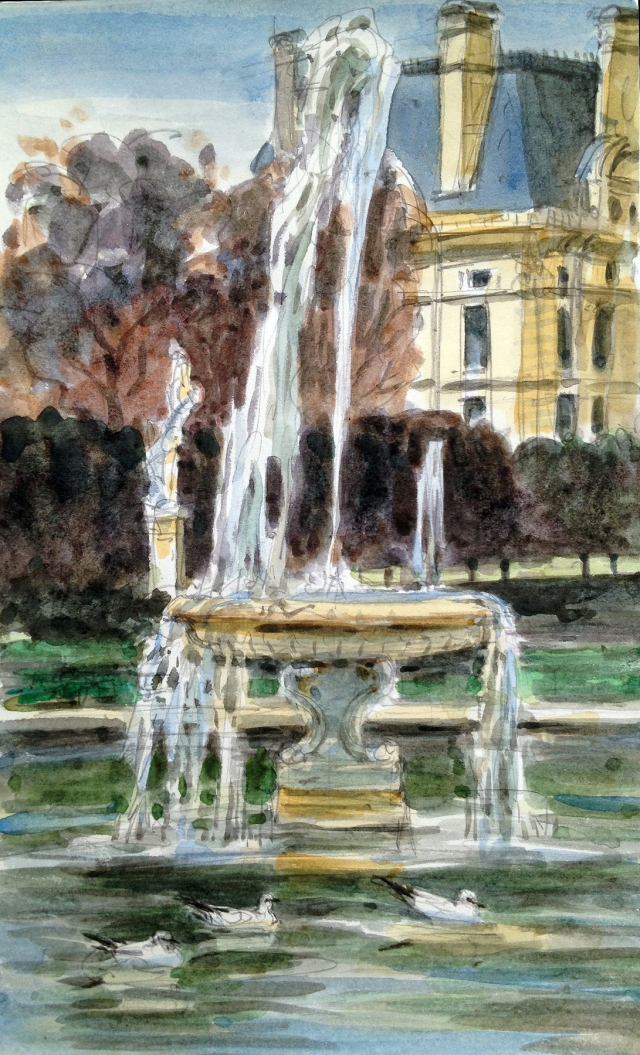 Jardin des Tuileries, Paris. A place of calm and congeniality in the eye of the Parisian arts hurricane: the Louvre at one end, the Musee Orangerie at the other, Musee d'Orsay just across the Seine.