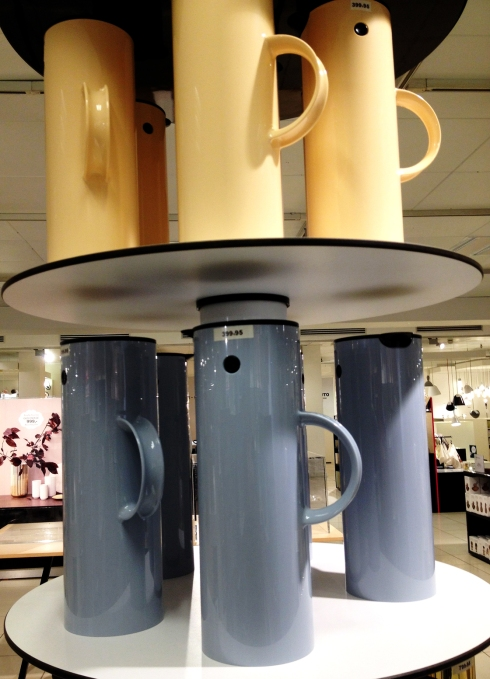 Stelton coffee carafes.