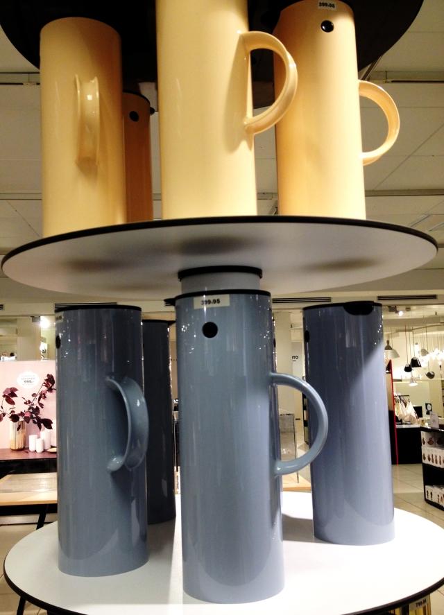 Stelton coffee carafes.